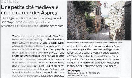 Castelnou, 66 Pyrénées Orientales, une petite cité médiévale en plein coeur des Aspres